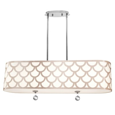 Piper 4-Light LED Drum Pendant Shade Color: Gold
