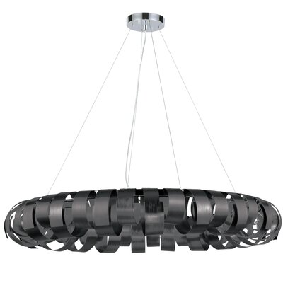 Cardenas 8-Light LED Drum Pendant Shade Color: Black