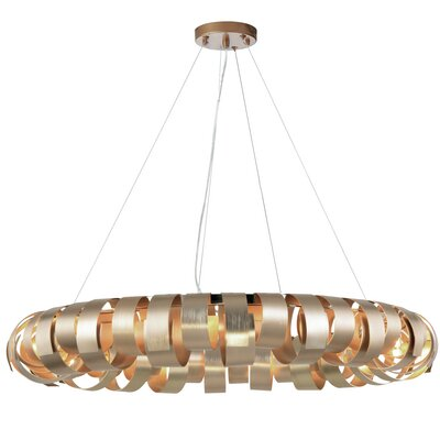 Cardenas 8-Light LED Drum Pendant Shade Color: Champagne
