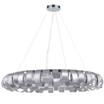 Cardenas 8-Light LED Drum Pendant Shade Color: Silver