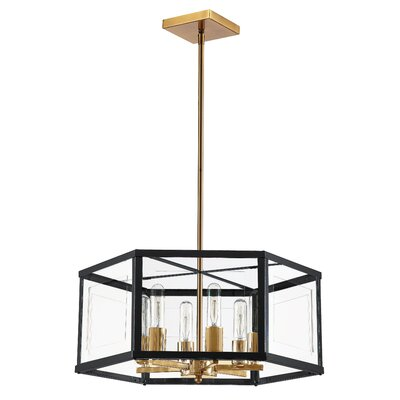 Arnone 6-Light Drum Chandelier Finish: Black/Vintage Bronze