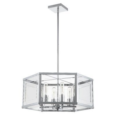 Arnone 6-Light Drum Chandelier Finish: Polished Chrome