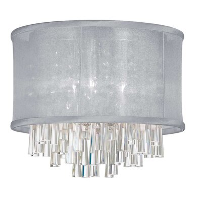 Phebe 4-Light LED Crystal Flush Mount