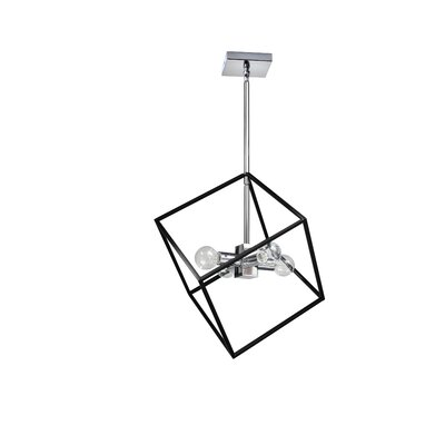 Elizalde 4-Light LED Geometric Pendant Base Finish: Polished Chrome