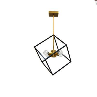 Elizalde 4-Light LED Geometric Pendant Base Finish: Vintage Bronze