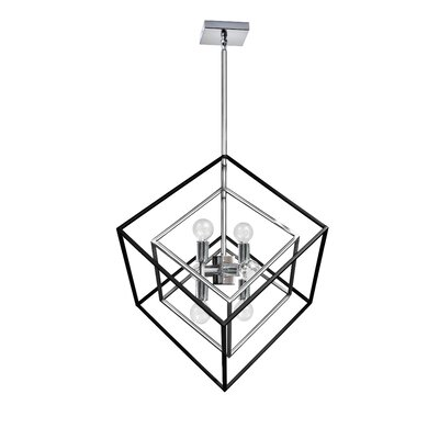 Elizalde 6-Light LED Geometric Pendant Base Finish: Polished Chrome