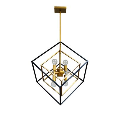 Elizalde 6-Light LED Geometric Pendant Base Finish: Vintage Bronze