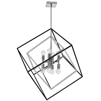 Elizalde 8-Light LED Geometric Pendant Base Finish: Polished Chrome