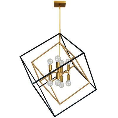 Elizalde 8-Light LED Geometric Pendant Base Finish: Vintage Bronze