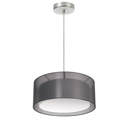 Epicurus 2-Light Drum Pendant Shade Color: Black