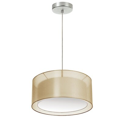 Epicurus 2-Light Drum Pendant Shade Color: Gold