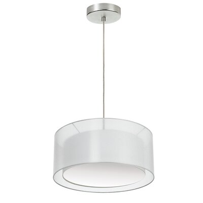 Epicurus 2-Light Drum Pendant Shade Color: White