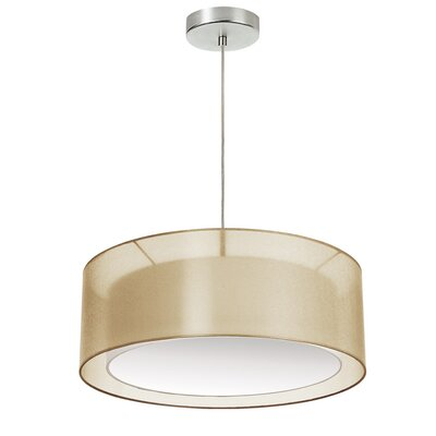 Abdera 3-Light LED Drum Pendant Shade Color: Gold