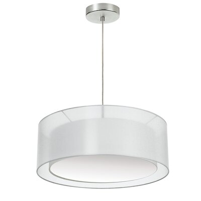 Abdera 3-Light LED Drum Pendant Shade Color: White