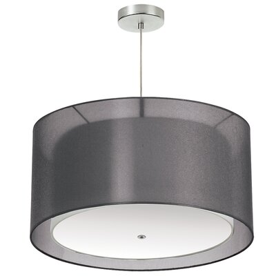 Lembus 3-Light LED Drum Pendant Shade Color: Black