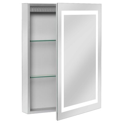 Ponticus 20 x 28 Recessed Medicine Cabinet with LED Lighting