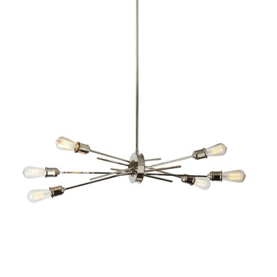 Gracia 6-Light LED Geometric Pendant Base Finish: Burnished Chrome