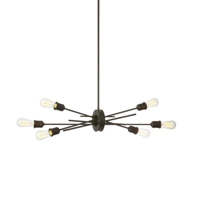 Gracia 6-Light LED Geometric Pendant Base Finish: Espresso