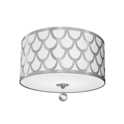 Piper 3-Light LED Intergrated Flush Mount Shade Color: White/Silver