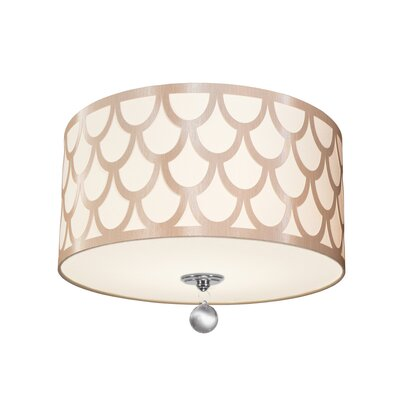 Piper 3-Light LED Intergrated Flush Mount Shade Color: Winter Gold
