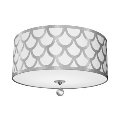 Piper 4-Light LED Intergrated Flush Mount Shade Color: White/Silver