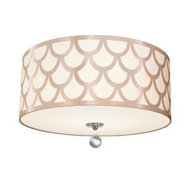 Piper 4-Light LED Intergrated Flush Mount Shade Color: Winter Gold