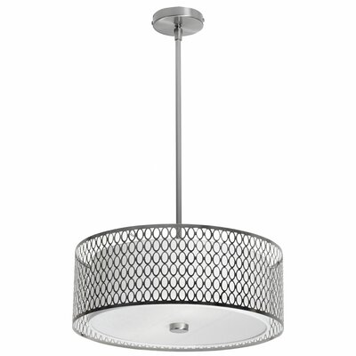 Malisa 3-Light Drum Pendant Size: 7 H x 17 W x 17 D