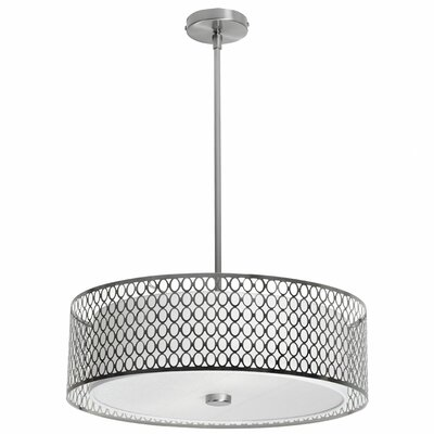 Malisa 3-Light Drum Pendant Size: 7 H x 22 W x 22 D