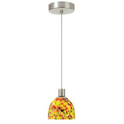 Paxton 1-Light Pendant I Shade Color: Yellow Mosaic