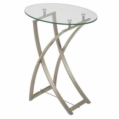 Lavone End Table in Silver