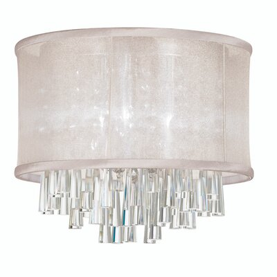 Leonardo 4-Light Crystal Flush Mount Shade Color: Oyster