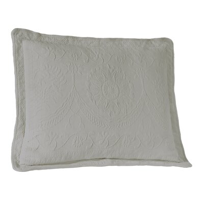 Matelasse Sham Color: Gray, Size: King