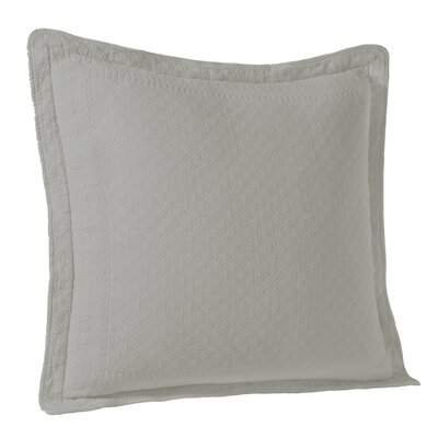 Matelasse Sham Color: Gray