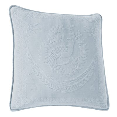 Matelasse Throw Pillow Color: Blue