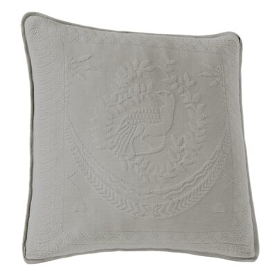 Matelasse Throw Pillow Color: Gray