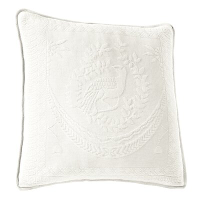 Matelasse Cotton Throw Pillow Color: White
