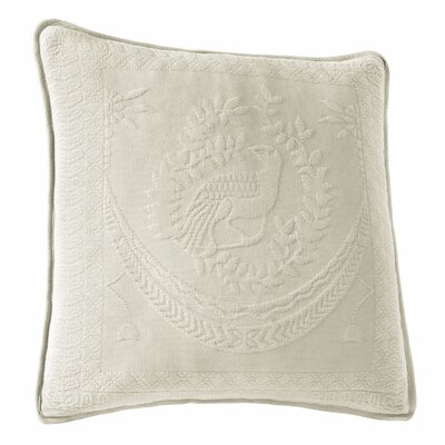 Matelasse Cotton Throw Pillow Color: Ivory