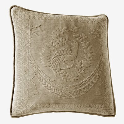 Matelasse Cotton Throw Pillow Color: Birch