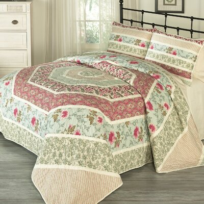 Maiden Lane 3 Piece Quilt Set Size: Queen