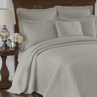 King Charles Matelasse Bedspread Size: King, Color: Gray
