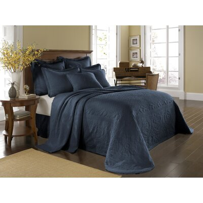 King Charles Matelasse Bedspread Bedding Collection in Provincial Blue