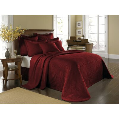 King Charles Matelasse Bedspread Bedding Collection in Scarlett