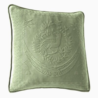 Matelasse Cotton Throw Pillow Color: Sage
