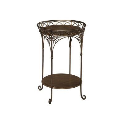 Round Iron End Table