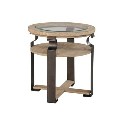 Metal and Wood End Table