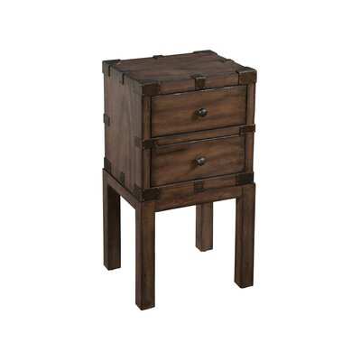 Box On Stand End Table