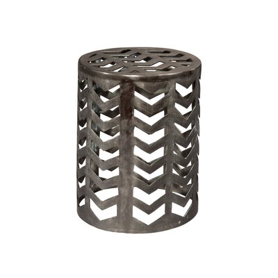 Image of Aluminum Drum End Table