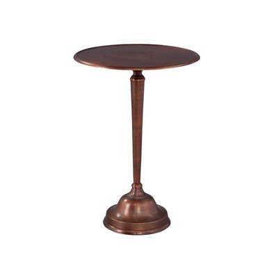 Copper Cast End Table