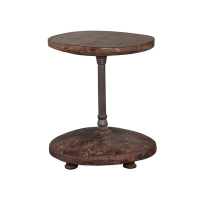 Cart Wheel End Table