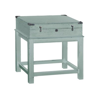 Box On Stand End Table Color: Blue